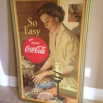 300th post,, 1950's Canadian Coca Cola cardboard