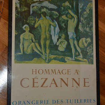 Hommage a Cezanne at the Orangerie de Tuilerie in Paris, 1954