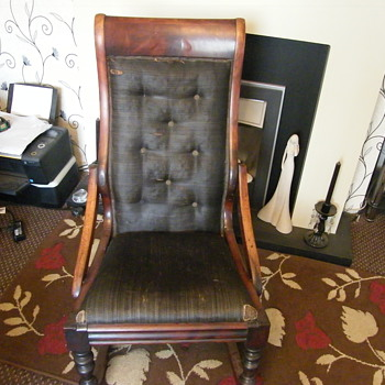 my favorite victorian rocking chair.