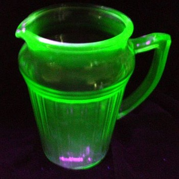Vaseline -- Depression Glass Pitcher
