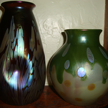 Loetz vases...hopefully better picture