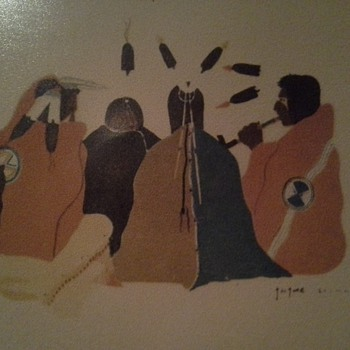 Early 1920's Native American Water Color Drawings