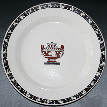 Mystery Old/Antique Porcelain plates with Greek/Roman designs