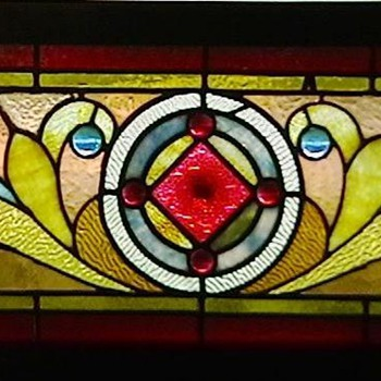 1890's American Victorian Stained Glass Window