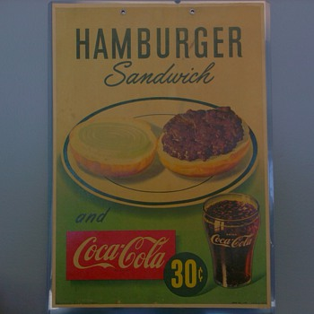 Coca Cola &quot;Hamburger Sandwich&quot; Litho