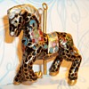 Gold Inlay Application - Carousel Horse