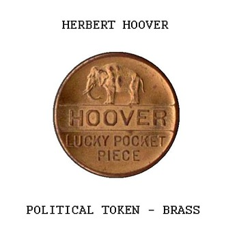 1928 - Hoover Political Token - US Coins