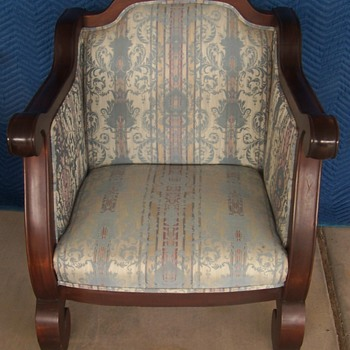 mahogany chair, empire