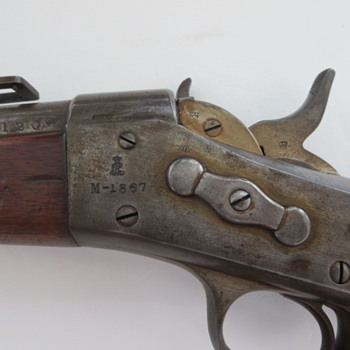 Kjobenhavns Toihuus Danish mfg. Remington M-1867 Rolling-Block Rifle - Military and Wartime
