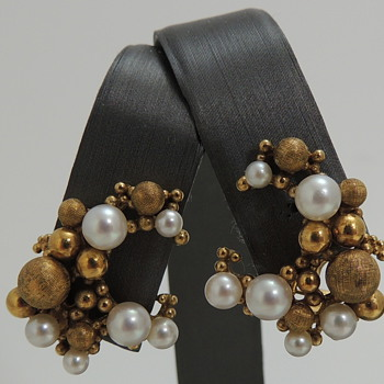 Gold Earrings with Pearls - GERMANY TW or WT ???? - Fine Jewelry
