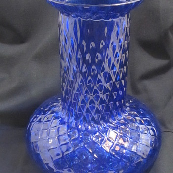Deep Blue Glass Vase  - Art Glass