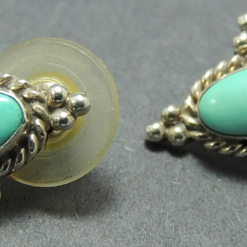 Turquoise &amp; Sterling - Earrings 
