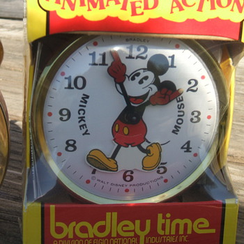 1970's Bradley Animated Mickey Alarm - Clocks