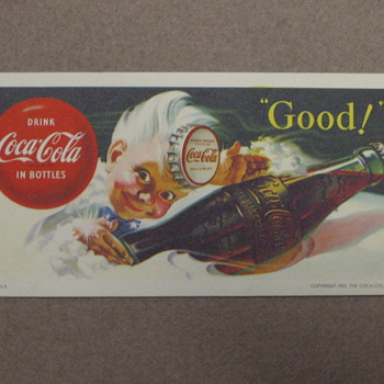 Coca-Cola Kid Blotter