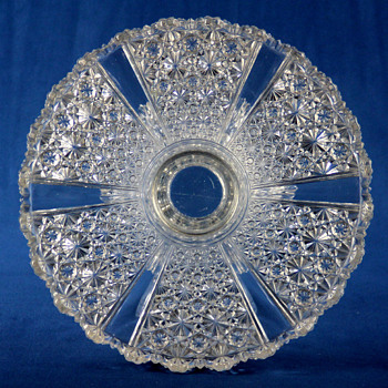 George Duncan Sons & Co. 'Ellrose' cake stand c1885 - Glassware