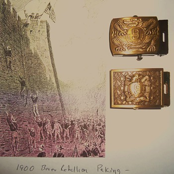 Vietnam Belt Buckle!  Thanks to Opium and Boxer Rebellion 1900 China Eight Countries sent troops!! - Military and Wartime