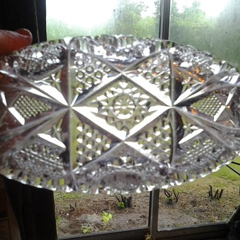 cut glassdish - Glassware