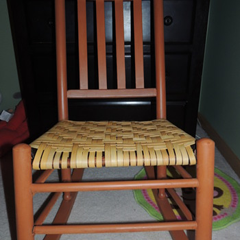 Slat Back Chair Restored with Splint and Milk Paint