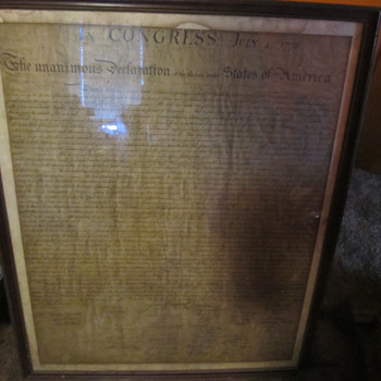 Old Copy of Declaration of Independence - but how old? - Paper