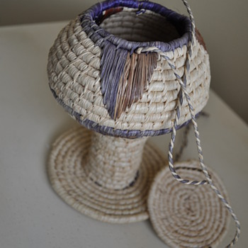 Woven basket in the shape of a goblet. Who made it?