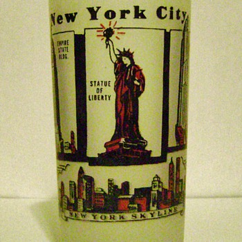 New York City Souvenir Glass