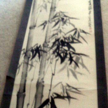 Asian Inkwash scroll - Asian