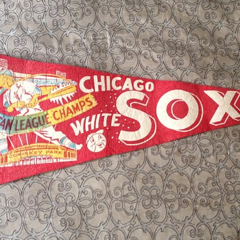 1959 Chicago White Sox American League Champs Pennant - Baseball