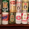Vintage beer cans