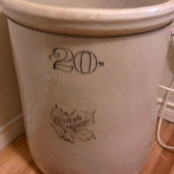 20 gallon stoneware crock