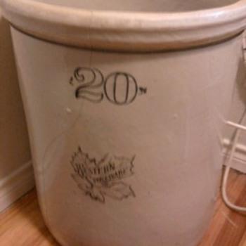 20 gallon stoneware crock
