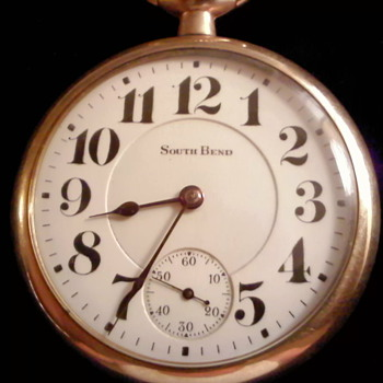Southbend Railroad Watch, circa 1910-1911 - Railroadiana