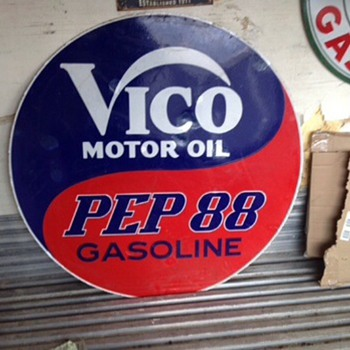 Rare VICO sign - Petroliana
