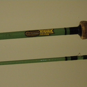 "Shakespeare Wonderod Fly Rod 7'9"" Green Blank - Fishing"