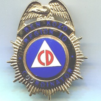 Civil Defense Region 10 Coordinator Badge - Medals Pins and Badges