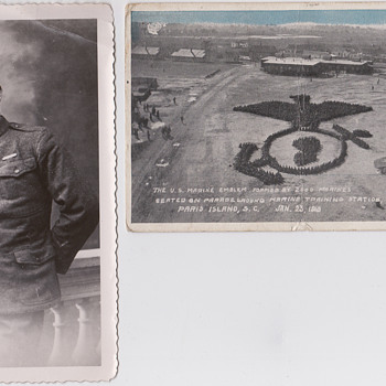 1918 postcard Paris Island - Photographs