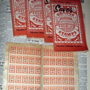 Rare Orange Premium Stamps in Books