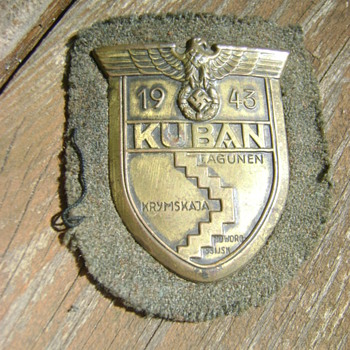 WWII Vet bring back German Kuban Shield