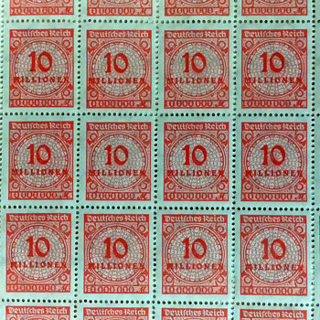 German Inflation period stamps.