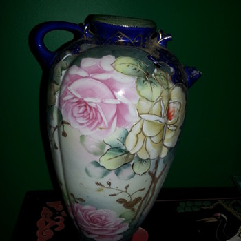 Handpainted Art Noveau Vase - Asian