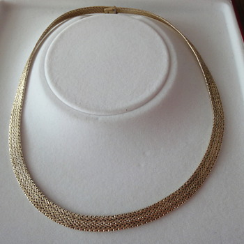 Vintage 14K yellow gold choker
