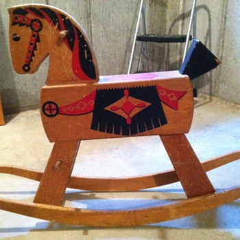 Vintage/antique folk art rocking horse