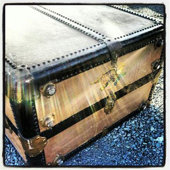 Vintage Oshkosh trunk