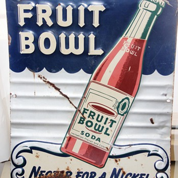 Drink Fruit Bowl Soda Sign