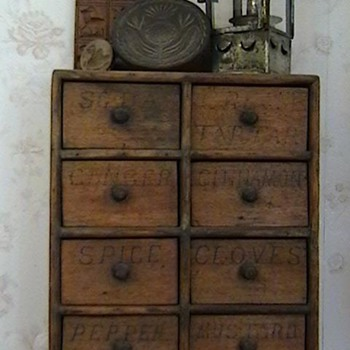 Early 1900's Hanging Spice Cabinet