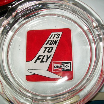 Champion Aviation spark plug ashtray