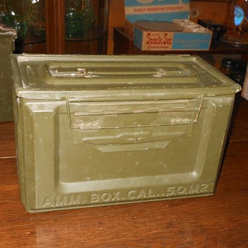 .50 Caliber Ammunition Box WWII - Military and Wartime