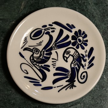 Los Castillo Small Porcelain Plate - Taxco, Mexico - Pottery