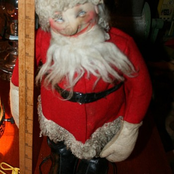"Vintage ""Drunk Santa"" - who is the doll's maker?"