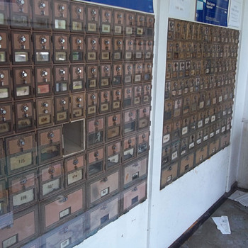 2 Panels of vintage mail boxes - Office