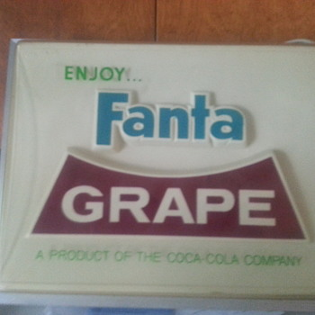 Fanta Grape Lighted Sign